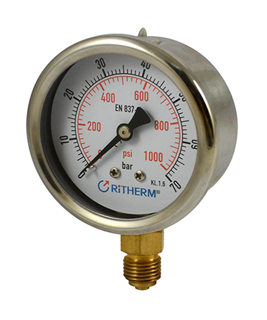 1200 Liquid filled pressure gauge
