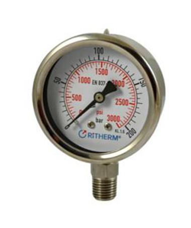 1300 All stainless steel  pressure gauge