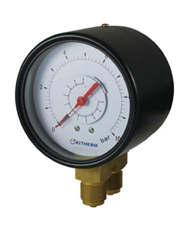 1600 Duplex pressure gauge