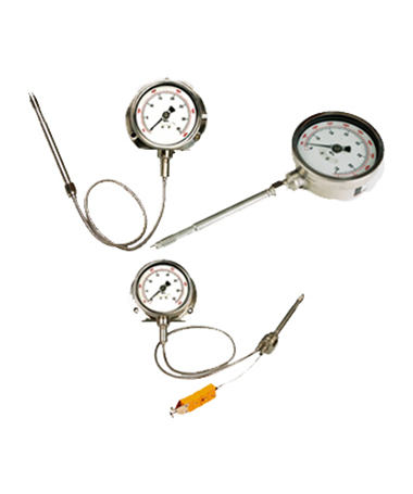 3112 Melt pressure gauge with temperature transmitter with flexiable capillary