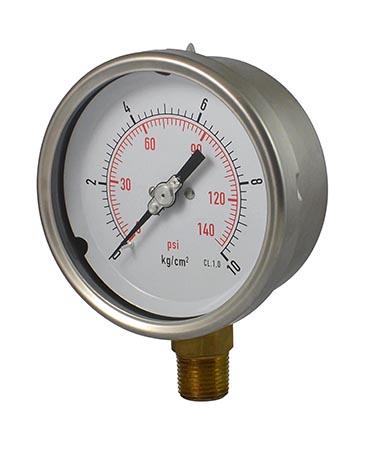 1210 Liquid filled pressure gauge