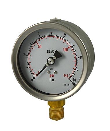 1220 Glycerin filled pressure gauge