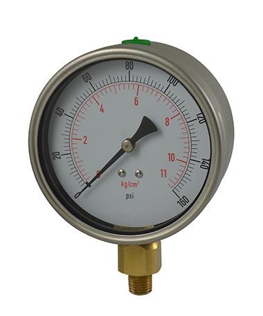 1222 Oil filled pressure gauge