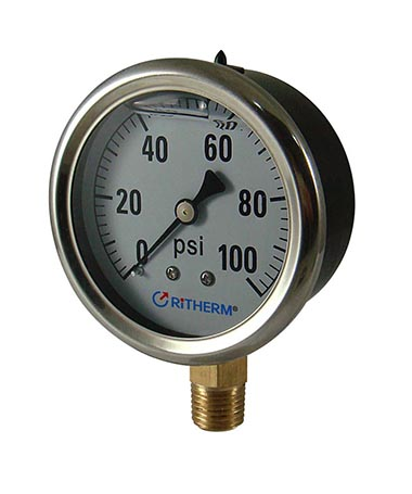 1240 Oil filled pressure gauge