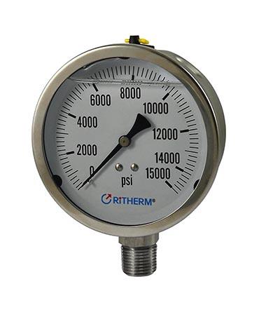1303 All stainless steel  liquid filled pressure gauge