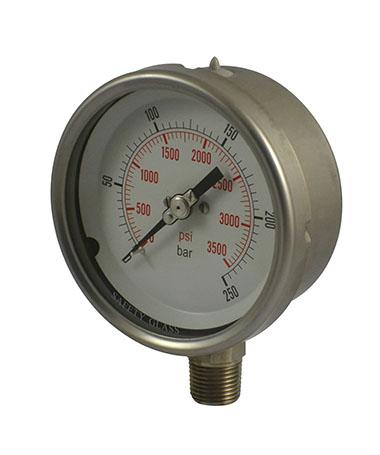 1310 All stainless steel  hydraulic pressure gauge