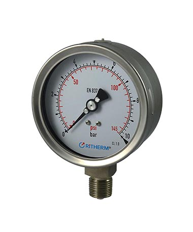 1320 All stainless steel  glycerin filled pressure gauge