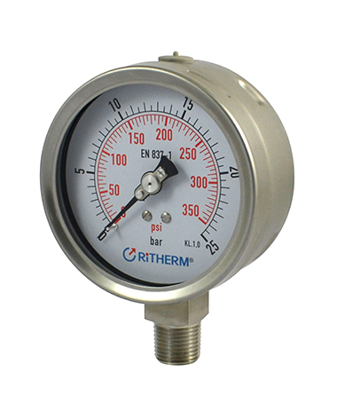 1321 All stainless steel  oil filled pressure gauge