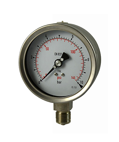 1322 All stainless steel  Vibration proof pressure gauge