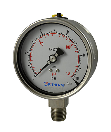 1323 Laser welded all stainless  steel pressure gauge