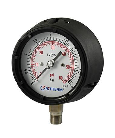 1360 Polypropylene case pressure gauge