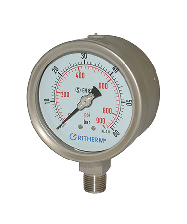 1366 All stainless steel safety pressure gauge
