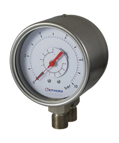 1602 All stainless steel  duplex gauge