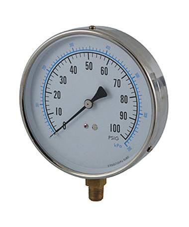 1165 Contractor pressure gauge
