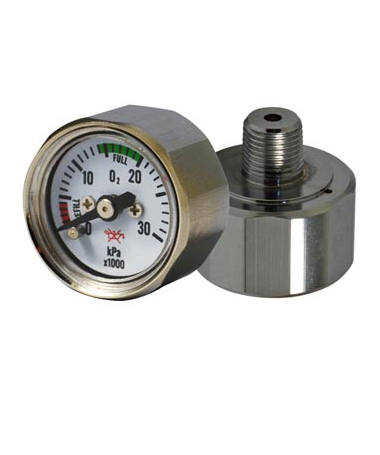 1183 Hexagon mini pressure gauge