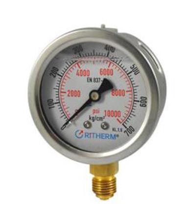 1203 Glycerin filled pressure gauge