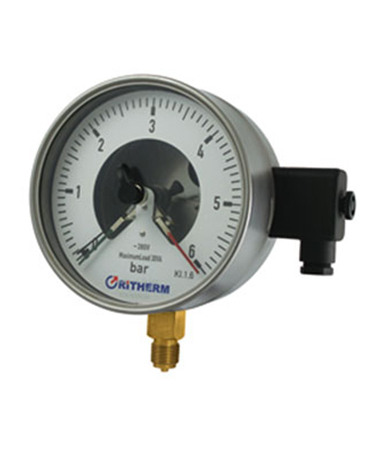 1711 Magnetic electric contact  pressure gauge