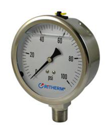 1304 All stainless steel  glycerin filled pressure gauge