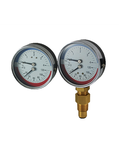 2730 Bimetal thermo-manometer, heavy duty