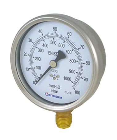 1408 Capsule low pressure gauge