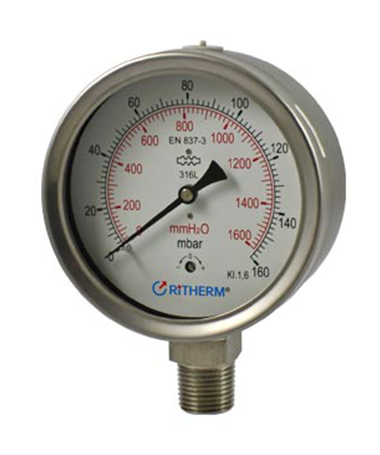 1410 All stainless steel capsule  low pressure gauge