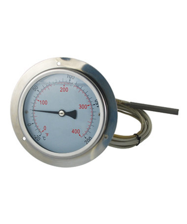 2421 Gas expansion thermometer with copper capillary