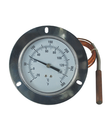 2422 Liquid expansion thermometer with flange