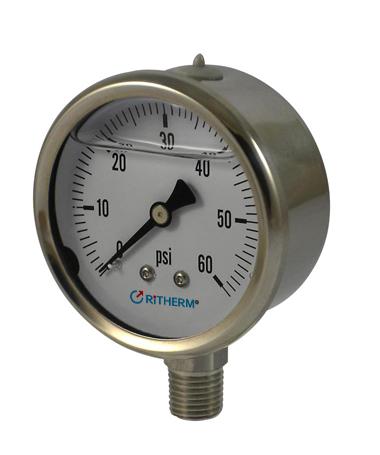 1301 All stainless steel  hydraulic pressure gauge