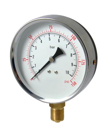 1100A Dry or utility pressure gauge