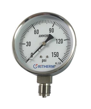 1151 Ammonia Stainless steel dry  pressure gauge