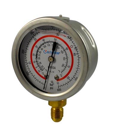 1203A Oil filled pressure gauge