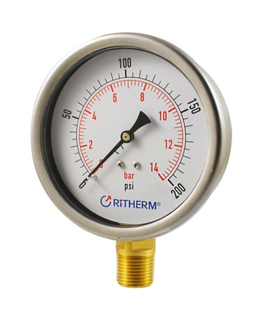 1205 Liquid filled pressure gauge