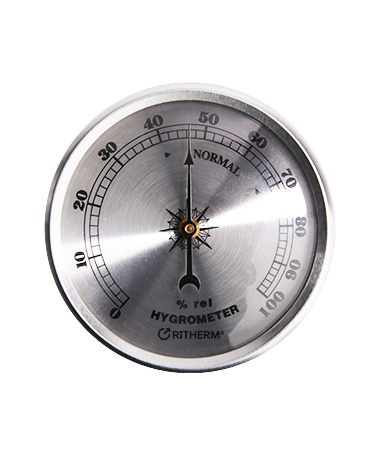 H001 analog wall clock thermometer thermo hygrometer